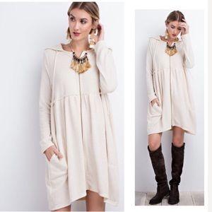 Hacci Knit Oversized Hooded Cardigan/Dress